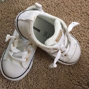 White with Gold Stars All Star Chuck Taylors